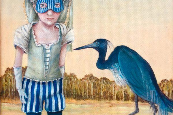 Blauwe kraanvogel