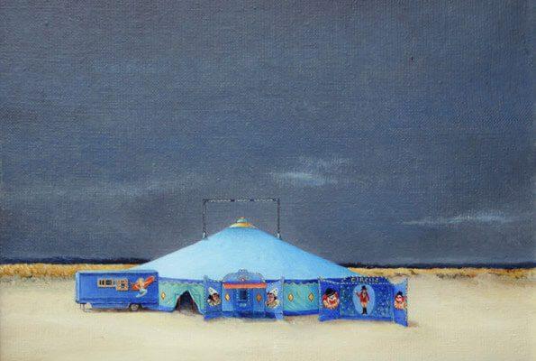 Circus op het strand