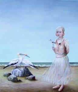 een-dagje-naar-het-strand-olieverf-op-doek-50x60