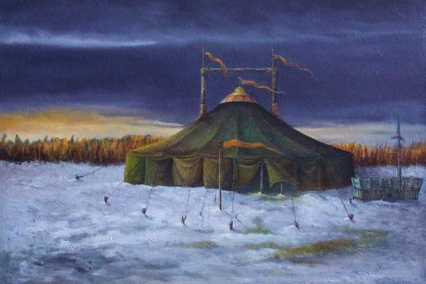 Circus in de sneeuw